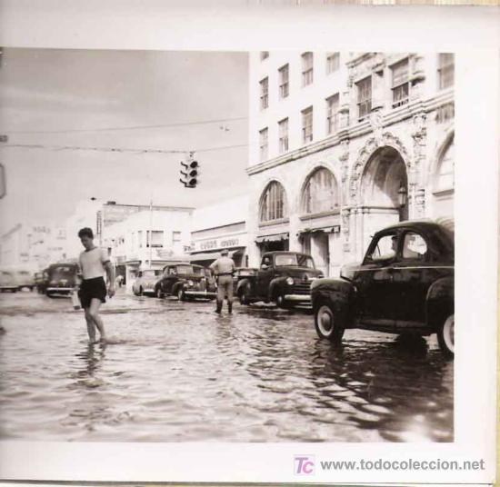 Fotografía antigua: Huracán e inundación -Fort Lauderdale ( Florida) , sept-octubre 1947. (20 fotografías originales) - Foto 3 - 23614528