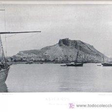 Fotografía antigua: HAUSER Y MENET, LAMINA FOTOGRAFICA ALICANTE VISTA GENERAL, 1891. Lote 25908975