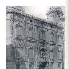 Fotografía antigua: HAUSER Y MENET, LAMINA FOTOGRAFICA VALENCIA, PALACIO DEL DUQUE DE DOS AGUAS, 1891. Lote 27029541