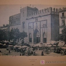 Fotografía antigua: VALÉNCIA. LA LONJA. FOTOTÍPIA. 1895.. Lote 4532706