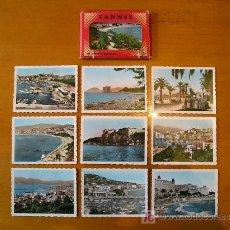 Fotografía antigua: 10 ANTIGUAS FOTOGRAFIAS COLOREADAS DE CANNES, FRANCIA (CIE DES ARTS PHOTOMECANIQUES). CIRCA 1940.. Lote 26769460