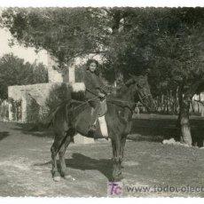 Fotografía antigua: CABALLO Y AMAZONA. AÑOS 1930. PRECIOSA FOTOGRAFÍA. CATALUÑA.. Lote 19840053