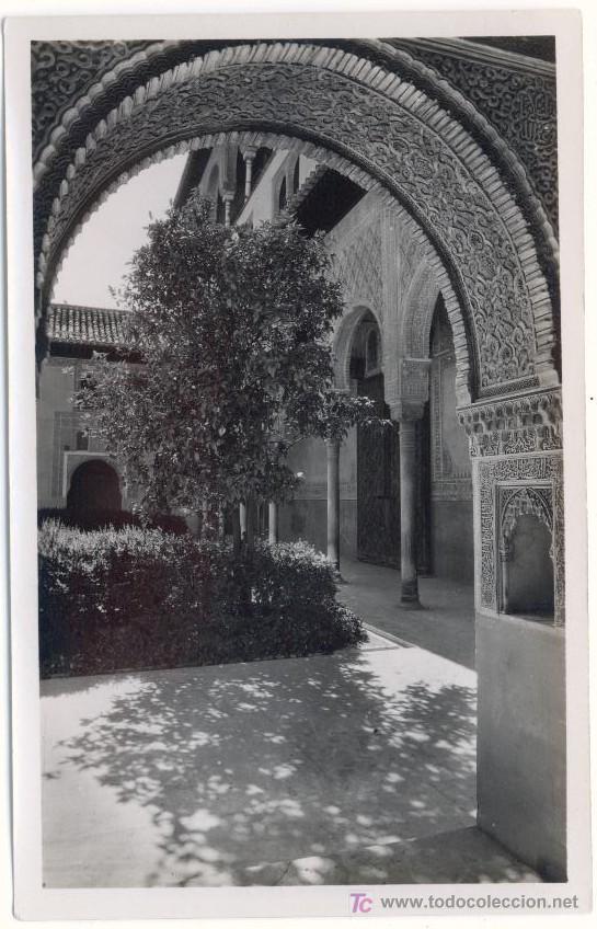 GRANADA, ALHAMBRA, PATIO DE LOS ARRAYANES (Fotografía Antigua - Fotomecánica)