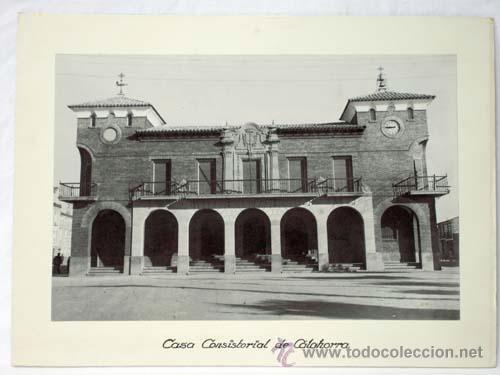 FOTOGRAFIA CALAHORRA LA RIOJA CASA CONSISTORIAL AÑOS 50 (Fotografía Antigua - Fotomecánica)