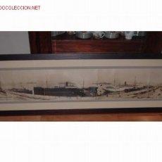Fotografía antigua: FOTOGRAFIA ANTIGUA DEL PUERTO DE SANTANDER VISTO DESDE EL HOTEL MEXICO (ENMARCADA). Lote 14913258
