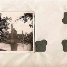 Fotografía antigua: FOTO LAGO CON MAJESTUOSO EDIFICIO EN EL FONDO- 1938. Lote 25399768