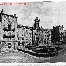 Fotografía antigua: FACHADA DEL GRAN SEMINARIO CENTRAL DE SANTIAGO . Lote 2466047