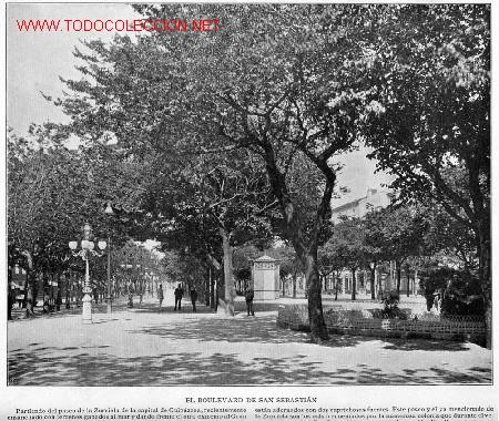 Fotografía antigua: EL BULEVARD DE SAN SEBASTIAN - Foto 2 - 2466185