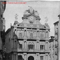 Fotografía antigua: CASA CONSISTORIAL DE PAMPLONA (NAVARRA). Lote 2471083