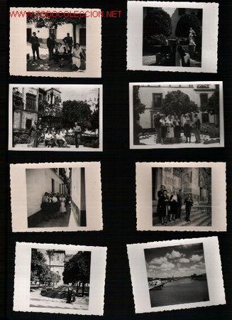 17 FOTOS DE SEVILLA 1950 +/- (Fotografía Antigua - Fotomecánica)