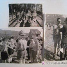 Fotografía antigua: LOTE 3 FOTOGRAFIA BOY-SCOUTS (VILLAPLANA, MANRESA). Lote 9913015