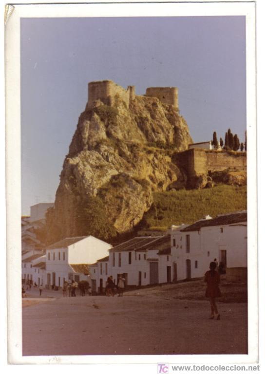 FOTOGRAFIA DEL CASTILLO DE OLVERA (CADIZ), MENU, ASOCIACION AMIGOS DE LOS CASTILLOS (Fotografía Antigua - Fotomecánica)