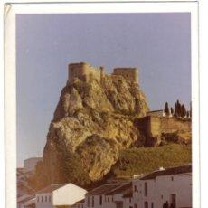 Fotografía antigua: FOTOGRAFIA DEL CASTILLO DE OLVERA (CADIZ), MENU, ASOCIACION AMIGOS DE LOS CASTILLOS. Lote 26461243