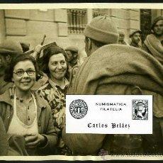 Fotografía antigua: FOTOGRAFIA GUERRA CIVIL(1936-39). COMITE BIENVENIDA EN BARCELONA (3-FEBRERO-1939). GRAN FORMATO.. Lote 25625596