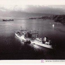 Fotografía antigua: FOTOGRAFIA DEL BARCO PETROLERO LA SEINE, ANCLADO EN LA BAHIA DE VAIRAO.. Lote 26419665