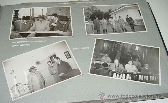 LOTE DE 4 FOTOGRAFIAS DE JOSE SOLIS RUIZ (MINISTRO DE FRANCO Y DELEGADO NACIONAL DE SINDICATOS) VISI (Fotografía Antigua - Fotomecánica)