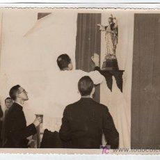 Fotografía antigua: PUERTO SANTA MARIA . ENTRONIZACION DEL CORAZON DE JESUS EN LAS BODEGAS OSBORNE.DEPARTAMENTO S.MIGUEL. Lote 12759307