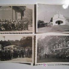 Fotografía antigua: LOTE 4 FOTOGRAFIAS GREMIO CONTRATISTAS - 1933-1950. Lote 12968821