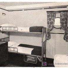 Fotografía antigua: COMPAÑIA TRASATLANTICA. TURBONAVE MONTSERRAT CAMAROTE DE DOS PLAZAS. Lote 13496287