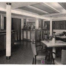 Fotografía antigua: COMPAÑIA TRASATLANTICA. TURBONAVE MONSERRAT, BAR. Lote 13496542