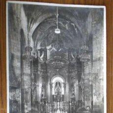 Fotografía antigua: INTERIOR DE LA BASÍLICA DE BEGOÑA (BILBAO) .. FOTO GRAN TAMAÑO. Lote 25297251
