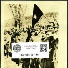 Fotografía antigua: FOTO GUERRA CIVIL (1936-39). FRENTE DE ARAGON MARZO -1938. OFICIALES DEL CUARTEL DEL GENERAL YAGUE. Lote 25625598
