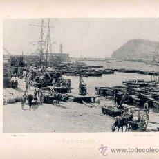 Fotografía antigua: LITOGRAFÍA HAUSER Y MENET. AÑO1891. BARCELONA.- EL MUELLE VIEJO. Lote 13816431