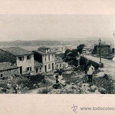 Fotografía antigua: LITOGRAFÍA HAUSER Y MENET. AÑO1890. CORUÑA.- VISTA DESDE SANTA MARGARITA. Lote 13817345
