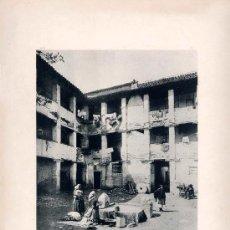 Fotografía antigua: LITOGRAFÍA HAUSER Y MENET. AÑO1890. GRANADA.- PATIO DE UNA CASA ÁRABE. Lote 13817492
