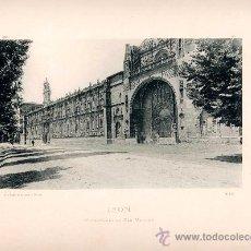 Fotografía antigua: LITOGRAFÍA HAUSER Y MENET. AÑO1890. LEON.- MONASTERIO DE SAN MARCOS. Lote 13817627
