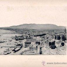 Fotografía antigua: LITOGRAFÍA HAUSER Y MENET. AÑO1890. MÁLAGA.- VISTA DESDE EL GIBRALFARO. Lote 13817772