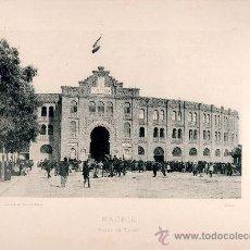 Fotografía antigua: LITOGRAFÍA HAUSER Y MENET. AÑO1893. MADRID.- PLAZA DE TOROS. Lote 13818151