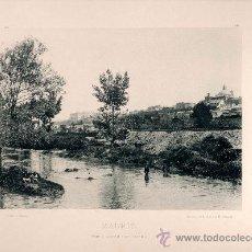 Fotografía antigua: LITOGRAFÍA HAUSER Y MENET. AÑO1893. MADRID.- VISTA DESDE SAN ISIDRO. Lote 13818189