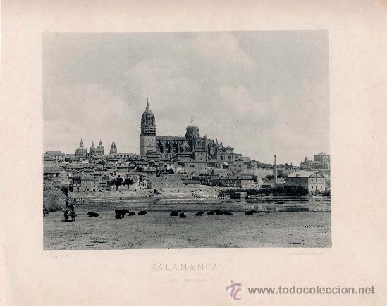 LITOGRAFÍA HAUSER Y MENET. AÑO1890. SALAMANCA.- VISTA GENERAL (Fotografía Antigua - Fotomecánica)