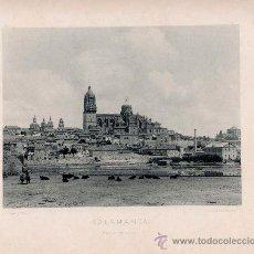 Fotografía antigua: LITOGRAFÍA HAUSER Y MENET. AÑO1890. SALAMANCA.- VISTA GENERAL. Lote 13818406