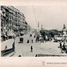 Fotografía antigua: LITOGRAFÍA HAUSER Y MENET. AÑO1890. SANTANDER.- EL MUELLE. Lote 13818558