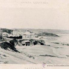 Fotografía antigua: LITOGRAFÍA HAUSER Y MENET. AÑO1890. SANTANDER.-. Lote 13818623