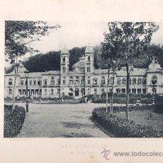 Fotografía antigua: LITOGRAFÍA HAUSER Y MENET. AÑO1890. SAN SEBASTIÁN.- EL GRAN CASINO. Lote 13818759