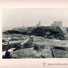 Fotografía antigua: LITOGRAFÍA HAUSER Y MENET. AÑO1890. SEGOVIA.- VISTA GENERAL. Lote 13818998