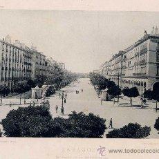 Fotografía antigua: LITOGRAFÍA HAUSER Y MENET. AÑO1891. ZARAGOZA.- EL PASEO DE LA INDEPENDENCIA. Lote 13819285
