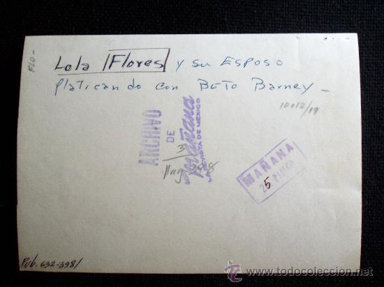 Fotografía antigua: FOTO ORIGINAL DEL ARCHIVO LA REVISTA MAÑANA, LOLA FLORES el actor Jose Suarez CON BETO BARNEY - Foto 2 - 26879843