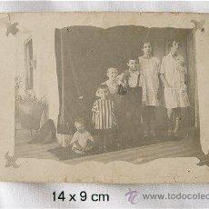 Fotografía antigua: FOTO POSTAL ANTIGUA 6 HERMANOS. Lote 27122313