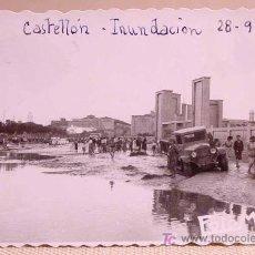 Fotografía antigua: FOTOGRAFIA, FOTO, RIADA, INUNDACION CASTELLON, 1949, 9 X 6,5 CM. Lote 15291703