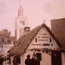 Fotografía antigua: ANTIGUA FOTO, VALENCIA, EXPOSICION REGIONAL 1948, PASEO CENTRAL, BARRACA, LOMBARDO. Lote 15358269