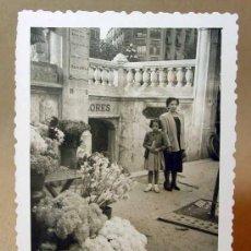 Fotografía antigua: FOTOGRAFIA FOTO, VALENCIA, 1950S, MERCADO DE LAS FLORES.. Lote 15606732