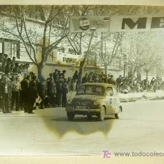 Fotografía antigua: FOTOGRAFIA ANTIGUA, FOTO, 2º RALLY FALLAS, 1960S, SEAT 600, META, PEPSI, VALENCIA, ALGUERSUARI. Lote 18310067