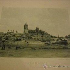 Fotografía antigua: FOTOTIPIA SALAMANCA, VISTA GENERAL, AÑO 1892 , FOTOGRAFIA DE HAUSER Y MENET. 25X35 CMS.. Lote 24267626