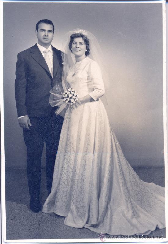FOTOGRAFÍA DE BODA. AÑO 1960 (Fotografía Antigua - Fotomecánica)