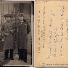 Fotografía antigua: FOTOGRAFÍA A LA ENTRADA DEL RETIRO EN MADRID.-FOTÓGRAFO CARCELLER.-DE BARCELONA. Lote 19135003
