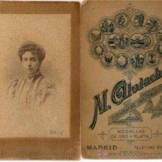 Fotografía antigua: RETRATO DEL FOTÓGRAFO M. ALVIACH EN MADRID. Lote 19136829